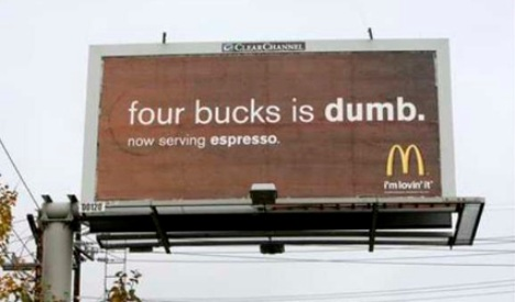 four-bucks-is-dumb-mcdonalds-starbucks-campaign-comparative-advertising