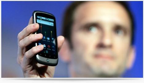 Le téléphone Google Nexus One à son lancement