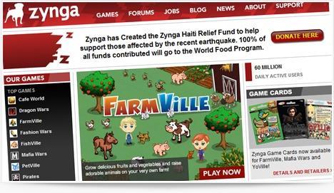 Zynga et les jeux virtuels pour Facebook