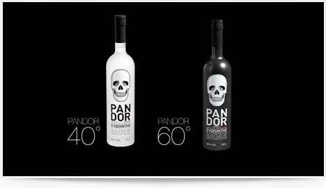 Bouteilles d'alcool Pandor Absinthe