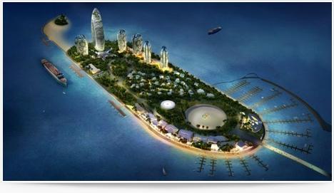 Le projet Phoenix Island à Sanya, par le bureau d'architectes MAD