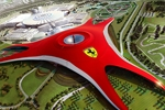 Le Ferrari World Park en construction