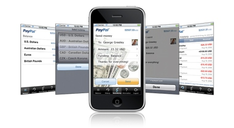 L'application PayPal iPhone