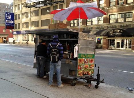 Vendeur de Kebab à New York
