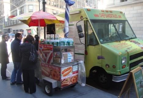 Vendeur de hot dog à New York