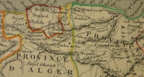 Une carte de l'Algérie pour illustrer le livre d'Arlette Heymann-Doat sur la guerre d'Algérie et le droit