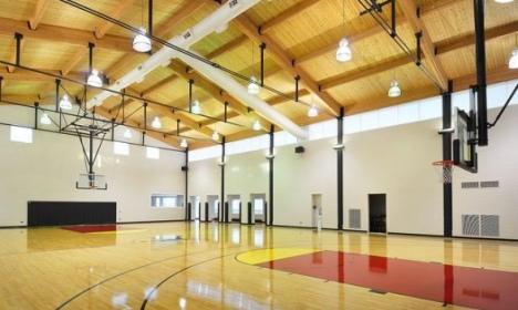 Le terrain de basket de la maison de Michael Jordan