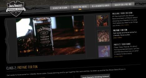 La drinking school de Jack Daniel's