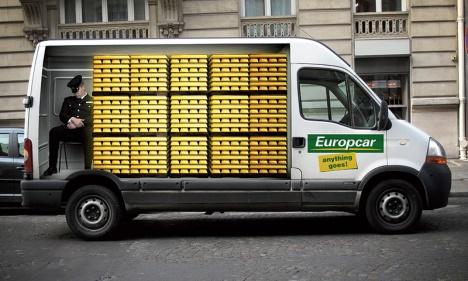 Europcar publicité trompe l'oeil 1