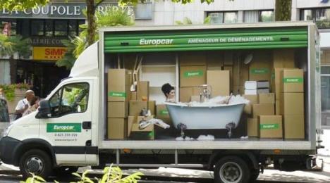 Europcar publicité trompe l'oeil 3
