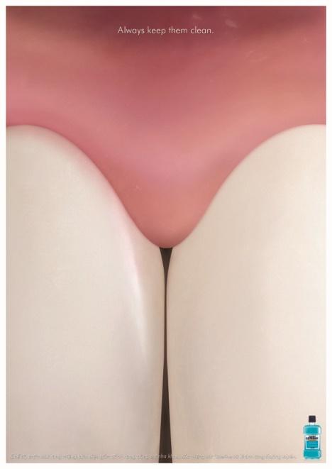 Listerine publicite trompe l'oeil