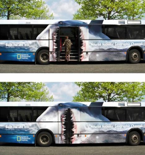 National Geographic publicite trompe l'oeil
