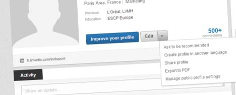 Exporter son profil Linkedin