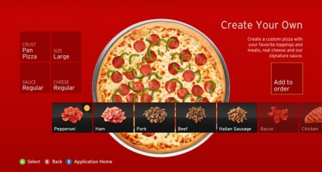 Pizza Hut vend pour 1 million de dollars de pizzas à travers la Xbox 360